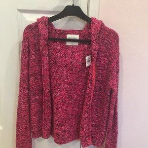 Abercrombie Pink Knit Jacket
